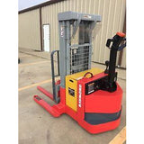 2003 RAYMOND DSX40 4000 LB ELECTRIC FORKLIFT WALKIE STACKER 72/150 3 STAGE MAST CUSHION 9844 HOURS STOCK # 5737-783313-ARB - united-lift-equipment
