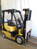 2013 YALE GLC050VX 5000 LB LP GAS FORKLIFT CUSHION 82/189 3 STAGE MAST SIDE SHIFTER 7979 HOURS STOCK # BF9216929-NCB