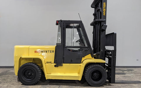 "2005 HYSTER H155XL2 15500 DIESEL FORKLIFT PNEUMATIC 127/173"" 2 STAGE MAST DUAL TIRES SIDE SHIFTING FORK POSITIONER ENCLOSED CAB STOCK # BF9274429-ILIL - United Lift Used & New Forklift Telehandler Scissor Lift Boomlift"