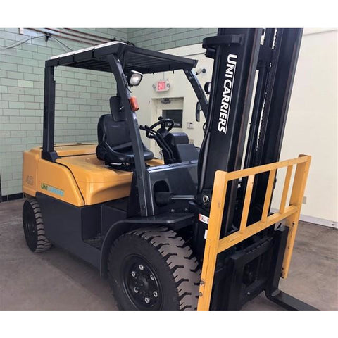 2015 UNICARRIERS FD40 9000 LB DIESEL FORKLIFT PNEUMATIC 108/157 2 STAGE MAST SIDE SHIFTER 913 HOURS STOCK # BF912178-BEMIN