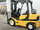2007 YALE GLP060VX 6000 LB LP GAS FORKLIFT PNEUMATIC 93/199 3 STAGE MAST SIDE SHIFTER 5286 HOURS STOCK # BF18283-DPA