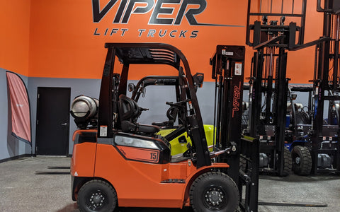 "2021 VIPER FY15 3000 LB LP GAS FORKLIFT PNEUMATIC 84/189"" 3 STAGE MAST SIDE SHIFTER BRAND NEW STOCK # BF9193889-ILIL"