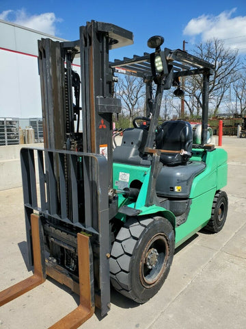 "2016 MITSUBISHI FG30N 6000 LB LP GAS FORKLIFT PNEUMATIC 83/186"" 3 STAGE MAST SIDE SHIFTER 4120 HOURS STOCK # BF9258419-RIL"