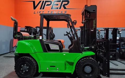 "2020 VIPER FD70 15500 LB DIESEL FORKLIFT DUAL PNEUMATIC 108/189"" 3 STAGE MAST SIDE SHIFTING FORK POSITIONER STOCK # BF9553569-ILIL - United Lift Used & New Forklift Telehandler Scissor Lift Boomlift"