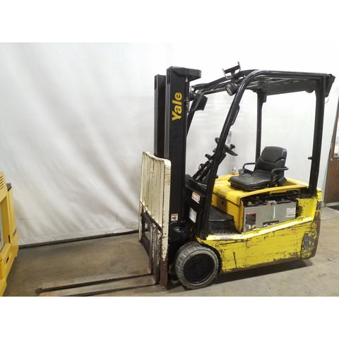 2011 YALE ERP035VT 3000 LB ELECTRIC FORKLIFT CUSHION 82/187 3 STAGE MAST SIDE SHIFTER STOCK # 20329-NCB