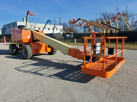 2012 JLG 600S TELESCOPIC STRAIGHT BOOM LIFT AERIAL LIFT 60' REACH DIESEL 4WD 2970 HOURS STOCK # BF9550389-RIL - United Lift Used & New Forklift Telehandler Scissor Lift Boomlift