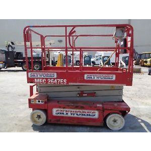2008 MEC 2647ES 26' REACH SCISSOR LIFT ELECTRIC 375 HOURS STOCK # BF9207839-ESPA