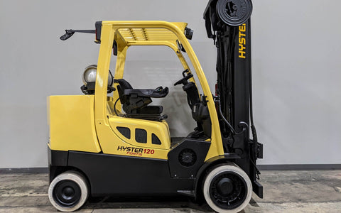 "2014 HYSTER S120FT 12000 LB LP GAS FORKLIFT CUSHION 100/208"" 3 STAGE MAST STOCK # BF9274449-ILIL - United Lift Used & New Forklift Telehandler Scissor Lift Boomlift"