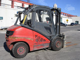 "2011 LINDE H50D 10000 LB DIESEL FORKLIFT PNEUMATIC 2 STAGE MAST 95/122"" FORK POSITIONER ENCLOSED CAB 4797 HOURS STOCK # BF9181459-ESPA - United Lift Used & New Forklift Telehandler Scissor Lift Boomlift"