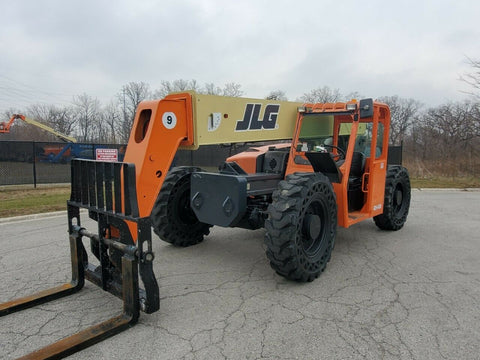2012 JLG G9-43A 9000 LB DIESEL TELESCOPIC FORKLIFT TELEHANDLER PNEUMATIC 4WD 2587 HOURS STOCK # BF9975899-RIL - United Lift Used & New Forklift Telehandler Scissor Lift Boomlift