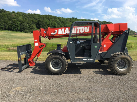 2017 MANITOU MTA6034 6000 LB DIESEL TELESCOPIC FORKLIFT TELEHANDLER PNEUMATIC 4WD 261 HOURS STOCK # BF9621699-ISNY