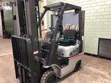 2007 NISSAN CL35 3500 LB LP GAS FORKLIFT CUSHION 84/187 3 STAGE MAST SIDE SHIFTER 4559 HOURS STOCK # BF9103899-BEMIN