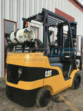 "2008 CATERPILLAR C6000 6000 LB LP GAS FORKLIFT CUSHION 189"" 3 STAGE MAST SIDE SHIFTER 3805 HOURS STOCK # BF9391979-MWWI"