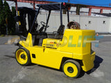 "2002 HYSTER S155XL2 15500 LB LP GAS FORKLIFT CUSHION 89/143"" 3 STAGE MAST 6913 HOURS STOCK # BF9251329-ESPA"