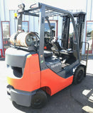 "2016 TOYOTA 8FGCU25 5000 LB LP GAS FORKLIFT CUSHION 189"" 3 STAGE MAST SIDE SHIFTER 4998 HOURS STOCK # BF9637649-MWWI"