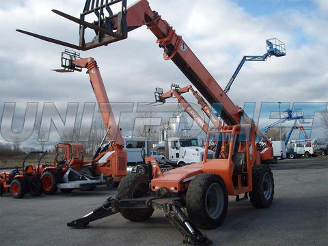 2013 SKYTRAK 10054 10000 LB DIESEL TELESCOPIC FORKLIFT TELEHANDLER PNEUMATIC 4WD OUTRIGGERS 5100 HOURS STOCK # BF90508729-EEMI