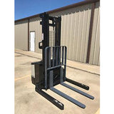 2005 CROWN WS 2000 3500 LB ELECTRIC FORKLIFT WALKIE STACKER CUSHION 84/128 2 STAGE MAST 8997 HOURS STOCK # 5014-256021-ARB - united-lift-equipment