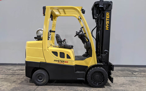 "2012 HYSTER H80FT 8000 LB LP GAS FORKLIFT PNEUMATIC 90/194"" 3 STAGE MAST STOCK # BF9164419-ILIL - United Lift Used & New Forklift Telehandler Scissor Lift Boomlift"