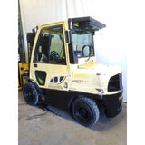 2014 HYSTER H90FT 9000 LB DIESEL FORKLIFT PNEUMATIC 85/173 3 STAGE MAST ENCLOSED CAB 10441 HOURS STOCK # BF20693-NCB