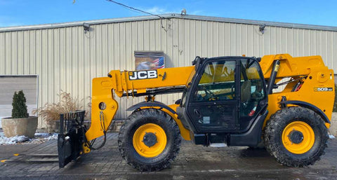 2014 JCB 509-42 9000 LB DIESEL TELESCOPIC FORKLIFT TELEHANDLER PNEUMATIC 4WD ENCLOSED CAB 2780 HOURS STOCK # BF9492779-NLEQ - United Lift Used & New Forklift Telehandler Scissor Lift Boomlift