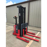 2006 RAYMOND RSS40 4000 LB ELECTRIC FORKLIFT WALKIE STACKER 86/128 2 STAGE MAST CUSHION SIDE SHIFTER 10338 HOURS STOCK # 5098-781226-ARB - united-lift-equipment