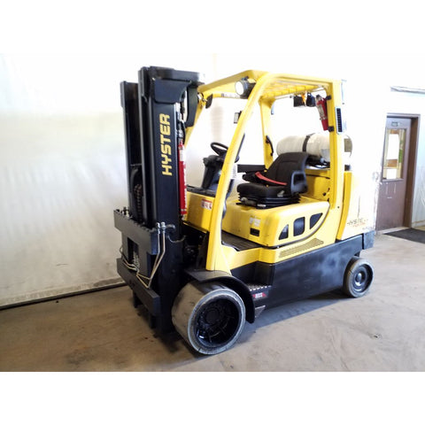 2014 HYSTER S120FT 12000 LB LP GAS FORKLIFT CUSHION 83/163 3 STAGE MAST 8101 HOURS STOCK # 19865-NCB