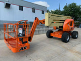 2007 JLG 450AJ ARTICULATING BOOM LIFT AERIAL LIFT WITH JIB ARM 45' REACH DIESEL 4WD 2843 HOURS STOCK # BF986330-RIL