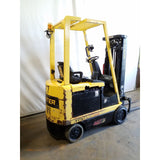 2011 HYSTER E40ZS 4000 LB ELECTRIC CUSHION 82/187 3 STAGE MAST SIDE SHIFTER STOCK # 20876-NCB