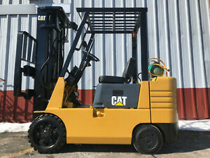 "1997 CATERPILLAR GC25 5000 LB LP GAS FORKLIFT PNEUMATIC 188"" 3 STAGE MAST SIDE SHIFTER STOCK # BF9928579-MWWI"