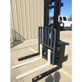 2004 CROWN WS 2000 3500 LB ELECTRIC FORKLIFT WALKIE STACKER CUSHION 84/128 2 STAGE MAST 6851 HOURS STOCK # 5057-644258-ARB