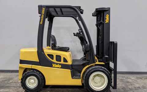 "2011 YALE GDP060VX 6000 LB DIESEL FORKLIFT PNEUMATIC 87/186"" 3 STAGE MAST OPEN CAB STOCK # BF9162109-ILIL - United Lift Equipment LLC"