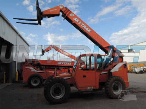 2008 SKYTRAK 8042 8000 LB DIESEL TELESCOPIC FORKLIFT TELEHANDLER PNEUMATIC 4WD ENCLOSED CAB 2631 HOURS STOCK # BF9355029-DBUF