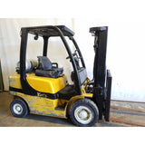 2013 YALE GLP050VX 5000 LB LP GAS FORKLIFT PNEUMATIC 84/189 3 STAGE MAST SIDE SHIFTER STOCK # 20298-NCB