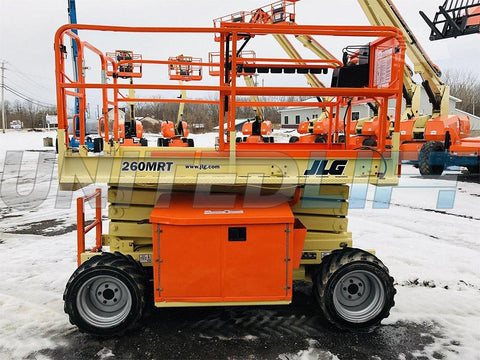2012 JLG 260MRT SCISSOR LIFT 26' REACH DIESEL ROUGH TERRAIN 4WD 1746 HOURS STOCK # BF9214569-BATNY