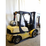 2008 YALE GLP060VX 6000 LB LP GAS FORKLIFT PNEUMATIC 88/200 3 STAGE MAST SIDE SHIFTER 6480 HOURS STOCK # 21378-NCB