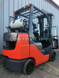"2008 TOYOTA 8FGCU30 6000 LB LP GAS FORKLIFT CUSHION 187"" 3 STAGE MAST SIDE SHIFTER 8431 HOURS STOCK # BF9096179-MWWI"