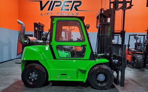"2020 VIPER FD70 15500 LB DIESEL FORKLIFT DUAL PNEUMATIC 108/189"" 3 STAGE MAST SIDE SHIFTING FORK POSITIONER ENCLOSED HEATED CAB STOCK # BF9573579-ILIL - United Lift Used & New Forklift Telehandler Scissor Lift Boomlift"