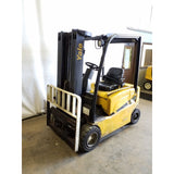 2010 YALE ERP040VF 4000 LB 78/187 3 STAGE MAST ELECTRIC FORKLIFT PNEUMATIC SIDE SHIFTER STOCK # 21126-NCB