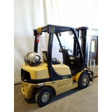 2007 YALE GLP050VX 5000 LB LP GAS FORKLIFT PNEUMATIC 88/200 3 STAGE MAST SIDE SHIFTER 6830 HOURS STOCK # 21368-NCB