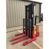 2006 RAYMOND RSS40 4000 LB ELECTRIC FORKLIFT WALKIE STACKER 86/128 2 STAGE MAST CUSHION SIDE SHIFTER 3740 HOURS STOCK # 5652-782260-ARB - united-lift-equipment