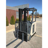 2007 CROWN 5530C-30 Stand Up Dockstocker 3500 LB ELECTRIC FORKLIFT CUSHION 83/190 3 STAGE MAST SIDE SHIFTER STOCK #8712-321260-ARB