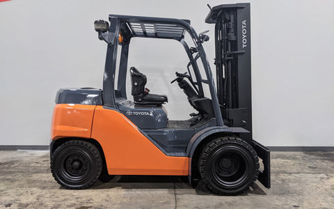 "2016 TOYOTA 8FD35U 8000 LB DIESEL FORKLIFT PNEUMATIC 96/199"" 3 STAGE MAST STOCK # BF9290019-ILIL - United Lift Equipment LLC"