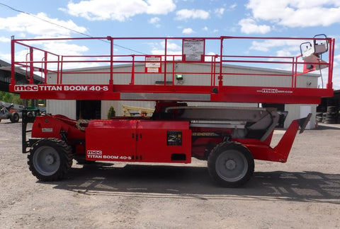 2013 MEC TITAN-BOOM 40S 40' REACH SCISSOR LIFT DIESEL 4WD 1680 HOURS STOCK # BF9896809-NLEQ - United Lift Equipment LLC