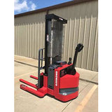 2004 RAYMOND RSS40 4000 LB ELECTRIC FORKLIFT WALKIE STACKER 60/128 2 STAGE MAST CUSHION SIDE SHIFTER 12394 HOURS STOCK # 5056-178636-ARB