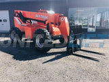 2007 SKYTRAK 8042 8000 LB DIESEL TELESCOPIC FORKLIFT TELEHANDLER ENCLOSED CAB PNEUMATIC 4WD 3202 HOURS STOCK # BF9261159-BATNY