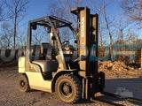 "2014 NISSAN MP1F2A25LV 5000 LBS CAPACITY LP GAS PNEUMATIC TIRE 187"" 3 STAGE MAST SIDE SHIFTER STOCK # BF9MP1F2A9-RIL2"