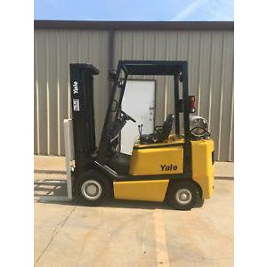 2002 YALE GLP040 4000 LB LP GAS FORKLIFT PNEUMATIC 84/130 2 STAGE MAST 7876 HOURS STOCK # 7225-01887Z-ARB - Buffalo Forklift LLC