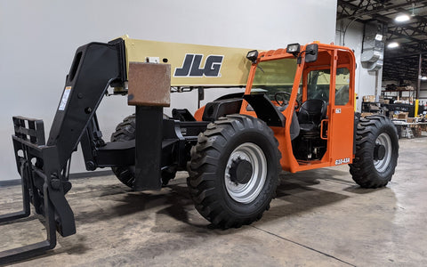 2016 JLG G10-43A 10000 LB DIESEL TELESCOPIC FORKLIFT TELEHANDLER PNEUMATIC 4WD OUTRIGGERS STOCK # BF9614309-ILIL - United Lift Used & New Forklift Telehandler Scissor Lift Boomlift