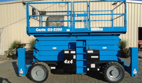 2014 GENIE GS5390RT SCISSOR LIFT 53' REACH DIESEL ROUGH TERRAIN 4WD 1155 HOURS STOCK # BF9291539-NLEQ