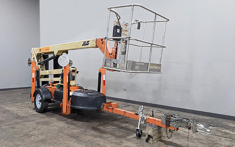 2014 JLG T350 TOWABLE BOOM LIFT AERIAL LIFT 35' REACH ELECTRIC 4WD HYDRAULIC OUTRIGGERS STOCK # BF9254139-ILIL - United Lift Used & New Forklift Telehandler Scissor Lift Boomlift
